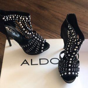 Black Studded Aldo Heels